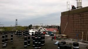 Beginn der Dachsanierung am 02.05.17