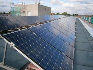 Solaranlage nach Neumontage der Solarmodule